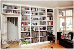 Narrower shelves towards top