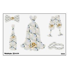 Zazzle has everything you need to make your wedding day special. Shop our unique selection of White wedding gifts, invitations, favors and so much more! Wedding Gifts, Wedding Day, Wall Patterns, Decorative Bells, Wall Decals, Make It Yourself, Unique, How To Make, Home Decor