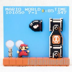 Super Mario Bros. Stage Figure 7-1 Bullet Bill Nintendo Dotgraphics JAPAN NES