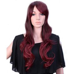 28'' / 70cm Heat Resistant Synthetic Wig Japanese Kanekalon Fiber Full Wig with Bangs Long Curly Wavy Full Head Stretchable Elastic Wig Net for Women Girls Lady Fashion and Beauty(Brown Rose Mixed) >>> Details can be found by clicking on the image.