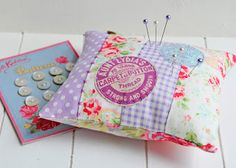 Scrappy Pincushion w applique
