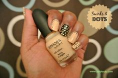 Swirls and Polka Dots Nail Art