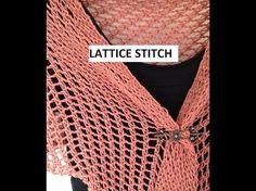 Lattice Stitch on a Knitting Loom - YouTube
