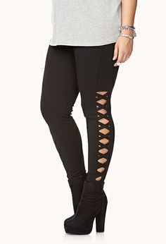 Rock On Cutout Pants | FOREVER 21 - 2000092879