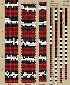 10 around tubular bead crochet rope pattern Diy Bracelets Patterns, Bead Loom Bracelets, Beaded Bracelet Patterns, Crochet Bracelet, Bead Crochet Patterns, Seed Bead Patterns, Bead Crochet Rope, Beading Patterns, Seed Bead Jewelry