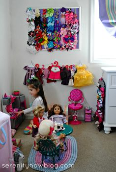 Organizing Tips for American Girl Doll Clothes and Accessories, from Serenity Now