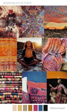 Colour Magic: Bohemian Sunset (Source: Pattern Curator)