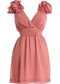 Petal Shoulders Dress >> So pretty for a bridesmaid dress!