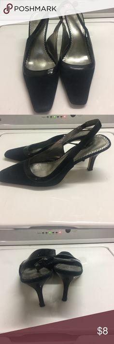 Real blue sling back shoes heels Nice color Anne Klein Shoes