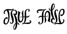 True/False ambigram