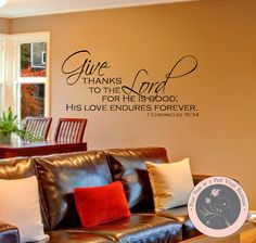 Bible Verse Wall Decal  Christian Wall by FourPeasinaPodVinyl, $21.50