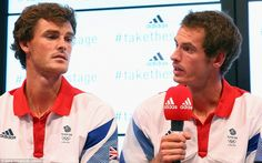 Andy Murray (right) and his brother Jamie will be representing Team GB in the doubles tennis tournament at London 2012