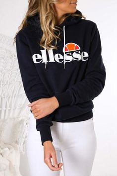 Hoodie Outfit, Sweater Outfits, Dress Outfits, Dress Blues, Blue Dresses, Ellesse Clothing, Shop Brands, Sports Brands, Sporty Outfits