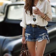 high waisted shorts ❤. one day I will be confident enough to wear shortzz