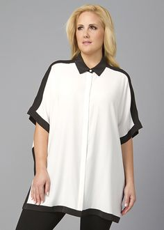 Plus-Size Matte Silk Jodie Top