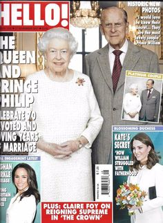Hello magazine Queen Elizabeth Prince Phillip Kate Middleton Meghan Markle