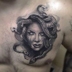 Svetlana Ost - Famous Last Words Medusa Tattoo Design, Sketch Tattoo Design, Tattoo Sketches, Tattoo Drawings, Hand Tattoos, Tribal Arm Tattoos, Unique Tattoos, Body Art Tattoos, Sleeve Tattoos