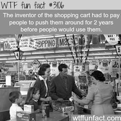 The inventor of the shopping cart -  WTF fun facts