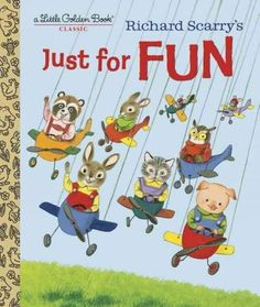Proudly reissued, a 1960 Richard Scarry Little Golden Book about playtime, pretending, and having fun! Richard Scarrys adorable rabbits, cats, and pigs have fun making masks, costumes, and toys from p
