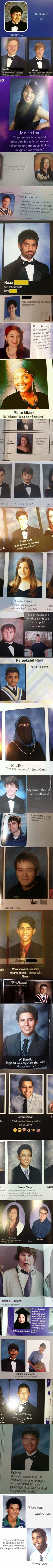 Some of the Best Yearbook Quotes of All Time, well Probably