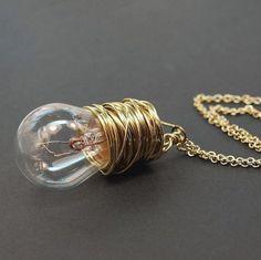 DIY Deko golden Glühbirnen schein ketten