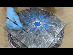 """More Acrylic flow paint """"flowers"""" - YouTube"""
