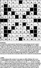 Printable Crossword Puzzles for Adults. Crosswords with Solutions