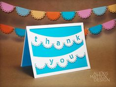 Thank You Card  Single Laser-Cut Card (Choice of Five Colors) by AlexisMattoxDesign, $3.45