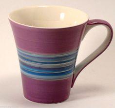 Valentine Purple Blues Silver Coffee Tea Mug Burton and Burton FIB Cup silver