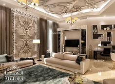Choose from ALGEDRDA Interior Design's unique ideas for contemporary family sitting room and modern living rooms. Stunning Interior Design, Modern Home Interior Design, Room Design, Interior Design, Interior Design Dubai, Interior Design Living Room, Master Bedroom Design, Sitting Room Design, Family Room Design
