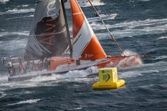 November 19, 2014. Start of Leg 2 from Cape Town to Abu Dhabi: Team Alvimedica. Ainhoa Sanchez/Volvo Ocean Race