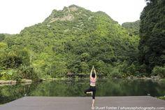 Yoga at the Banjaran Hotsprings Retreat at Ipoh, Malaysia. Photo by Stuart Forster.