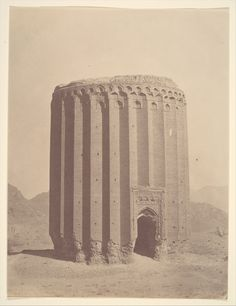 Tower of Toghrul, Rey, northern Iran, circa 1860s.