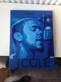 painting of j by AbstractGraffitiShop on Etsy, $60.00