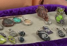 4 wire bezel designs by Janice Berkebile - from Bezel Alternatives: 4 Ways to Set Stones (and Shells, Beads, and More) in Wire with Janice Berkebile - Jewelry Making Daily