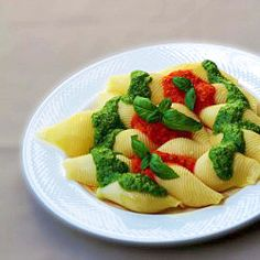 Pasta with two sauces
