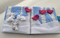 I love the snow drifts and felt woodland animals for this quiet book page!