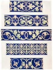 Foliate decorative borders century by Design Decoration Craft - I can so paint these into trim. Border Pattern, Pattern Art, Pattern Design, Decor Crafts, Art Decor, Decoration, Motif Arabesque, Azulejos Art Nouveau, Medieval Embroidery