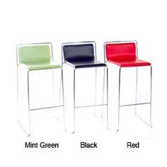 These stylish bar stools will bring a contemporary spirit to your breakfast bar or entertainment area. These stool have a chrome finish frame with a foot rest for added comfort. Leather Bar Stools, Modern Bar Stools, Counter Stools, Foot Rest, Cleaning Wipes, Sweet Home, New Homes, Home And Garden, Contemporary