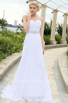 Sweetheart Sleeveless Draping Chiffon Dress - Dorris Wedding Wedding Dresses  Uk 0a27af2e68f3