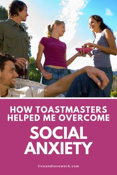 I didn't join Toastmasters to help me overcome my social anxiety - I didn't even know it would help me be more comfortable in a variety of social and business situations. Anxiety Help, Social Anxiety, Confidence Boost, Work Life Balance, Just Don, Help Me, Stress, Join, Goals