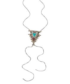Karen London Coral Heart Breaker Bolo Necklace