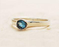 Verlobungsringe - BLAU TOPAS RING, NOVEMBER MONATSSTEIN RING - ein Designerstück von JewellRay-Silver-jewellery bei DaWanda