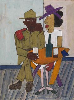 High Life, Harlem by William H. Johnson William H Johnson, Famous African Americans, Afro Art, African American Art, Poses, Outsider Art, Black Art, Wood Art, Art History