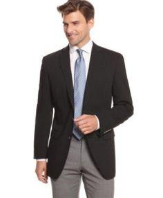 New Calvin Klein Mens Metal Two Button Blk Stretch Casual Sports Coat Blazer 40 #CalvinKlein #TwoButton