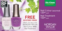 Morgan Taylor, the NEW standard in Professional Nail Lacquer, the crème de la crème of nail color. #DischemBeautyFair