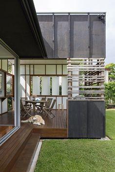 Queenslander, Courtyard House, Extensions, Garage Doors, Outdoor Decor, Room, Furniture, Ideas, Home Decor