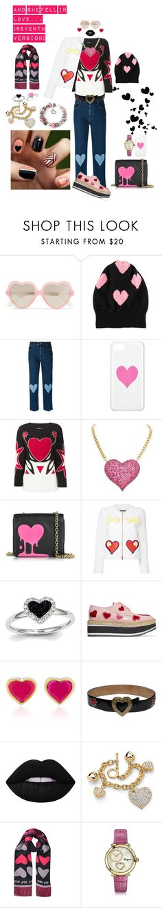 """""""And She Fell In Love... (Seventh Version)"""" by chloeptlle ❤ liked on Polyvore featuring Cutler and Gross, Rosie Sugden, STELLA McCARTNEY, Moschino, Love Moschino, Boutique Moschino, Prada, She Bee, Lime Crime and Palm Beach Jewelry"""