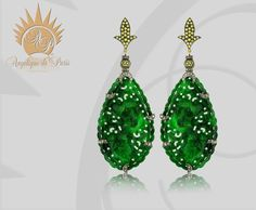 Make an Entrance with Hand-Carved Burmese Jade and Yellow Sapphirre by Angelique de Paris