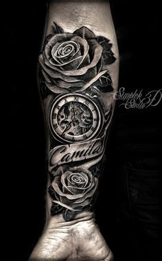 Ideas Tattoo Rose Clock Banners For 2019 – tattoo sleeve men Forarm Tattoos, Forearm Sleeve Tattoos, Best Sleeve Tattoos, Tattoo Sleeve Designs, Tattoo Designs Men, Rose Tattoos For Men, Wrist Tattoos For Guys, Tattoo For Son, Baby Tattoos